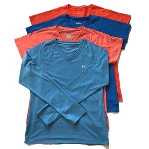 Under Armour Shirts Medium Short and Long Sleeve